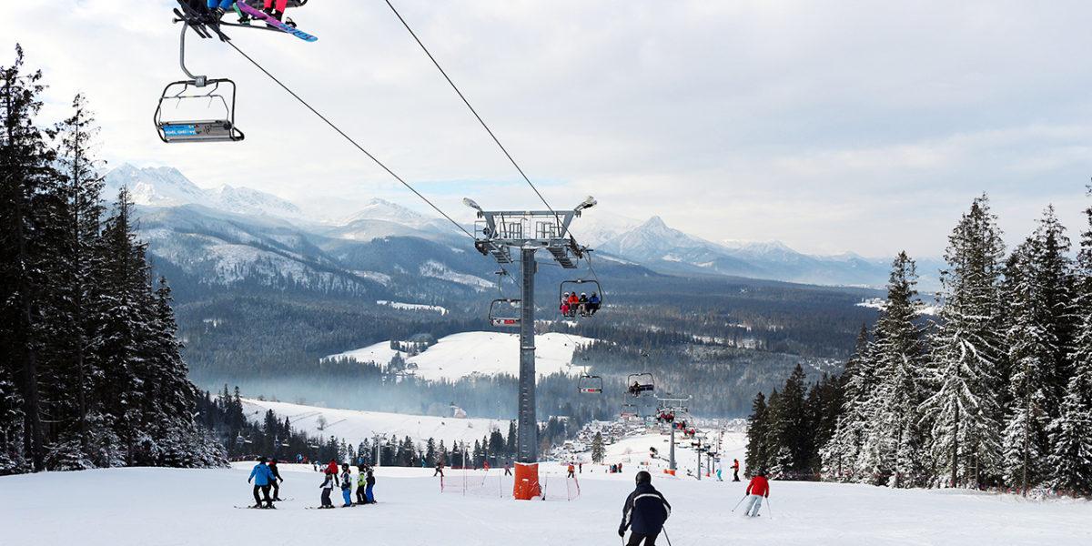 Stok narciarski - stacja Małe Ciche